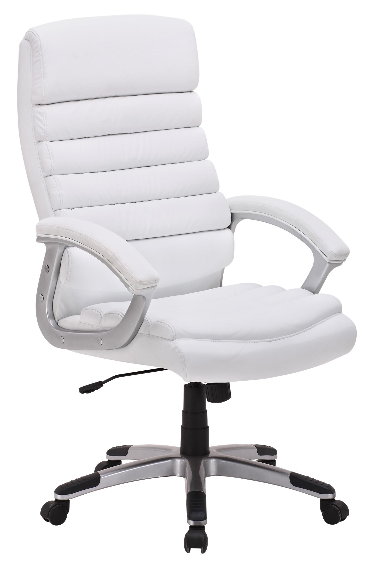 Chaise de bureau kennedy pu blanc for Meuble belgica tongres